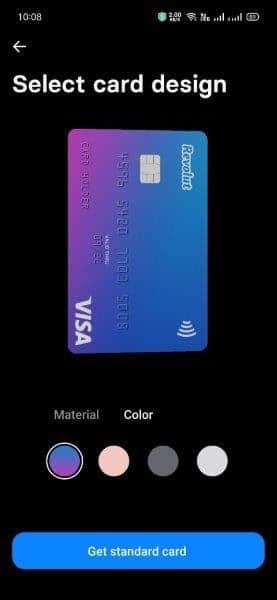 選擇你的卡片顏色