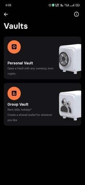 開啟Personal或者Group Vault