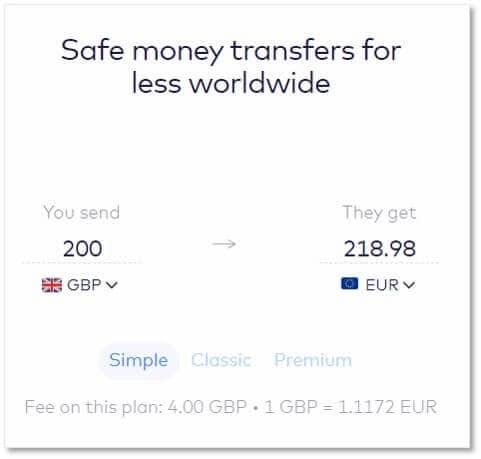 Monese的換匯費用和匯率
