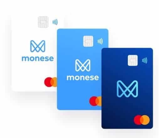 Monese的預付扣張卡