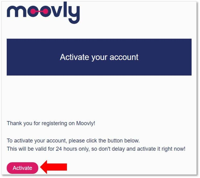 到電郵信箱點擊『Activate』