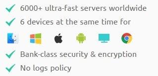 VPN Master 擁有6,000多個伺服器