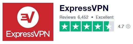ExpressVPN在Trustpilot 上的評價
