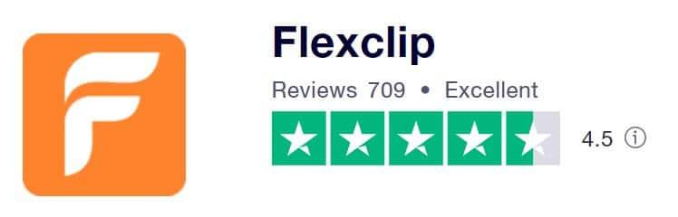 FlexClip 的Trustpilot 評分