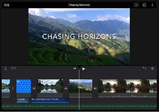 iMovie 的介面