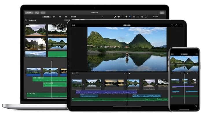 iMovie 可在不同裝置切換使用
