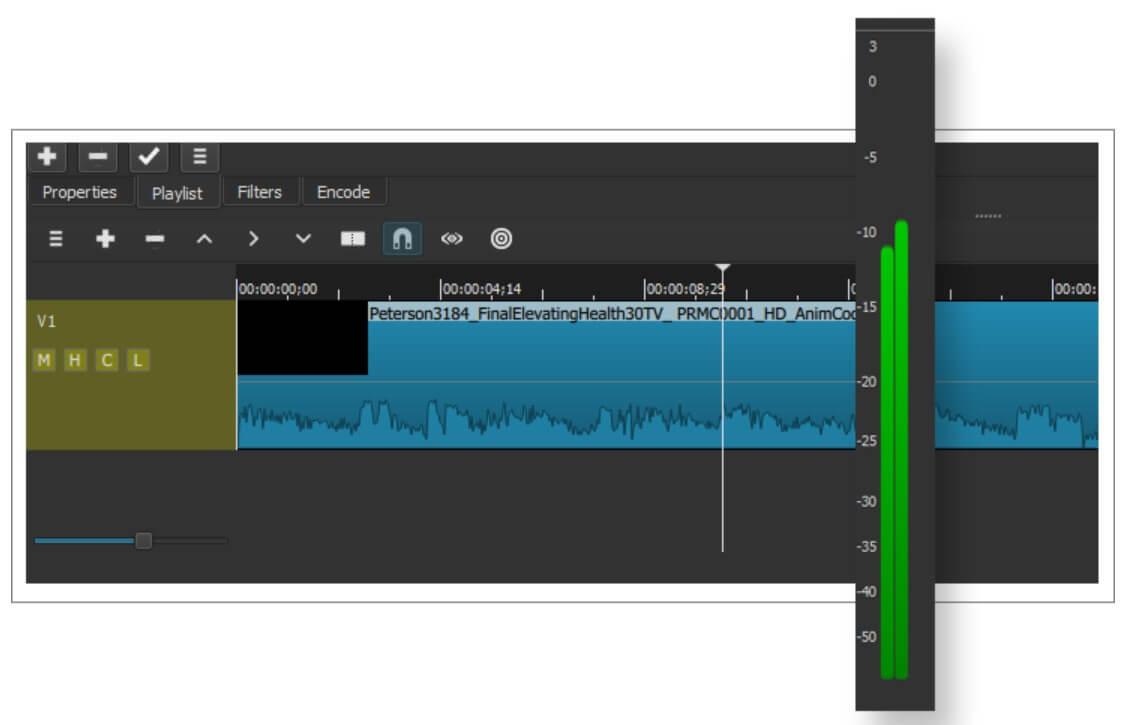 ShotCut 的音訊篩檢程式