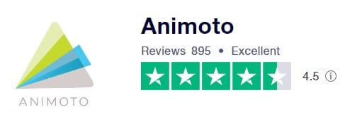 Animoto 的Trustpilot 評分