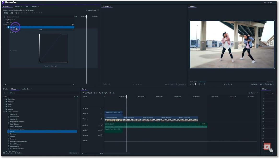 FilmoraPro 的介面