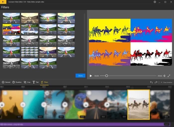IceCream Video Editor的濾鏡特效