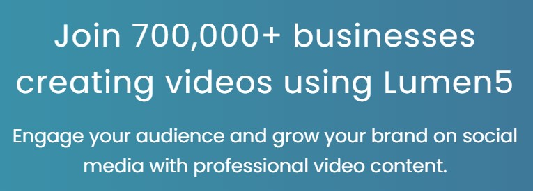 Lumen5 擁有超過70萬的用戶