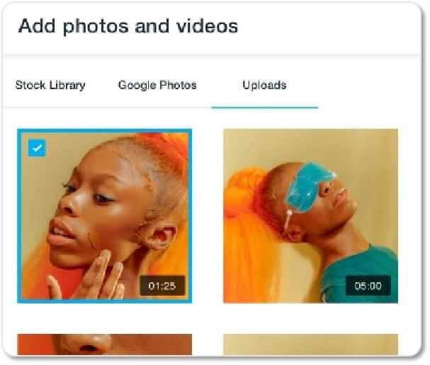 Vimeo Create 提供媒體素材