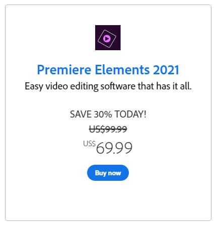 Premiere Elements 價格