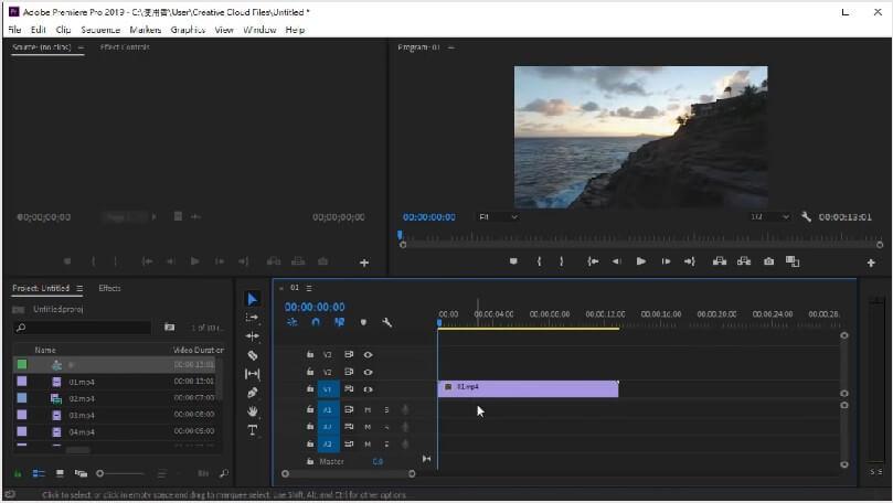 Adobe Premiere Pro的介面