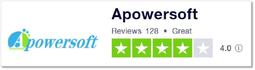 Apowersoft 的Trustpilot 評價