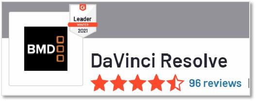 G2 評價 Davince Resolve