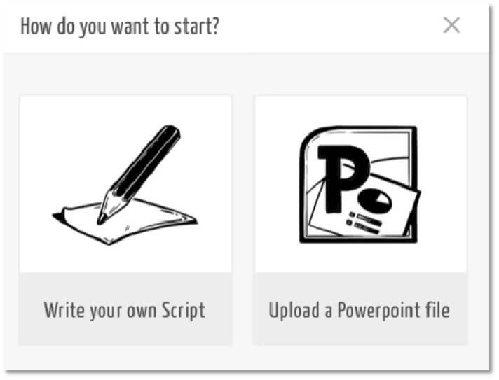 MySimpleShow 可以選用Script或上傳PPT檔