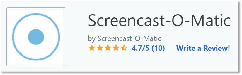 screencast-o-matic 在Capterra 評價