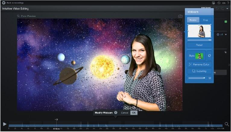 Screencast-O-Matic 可以編輯綠幕背景