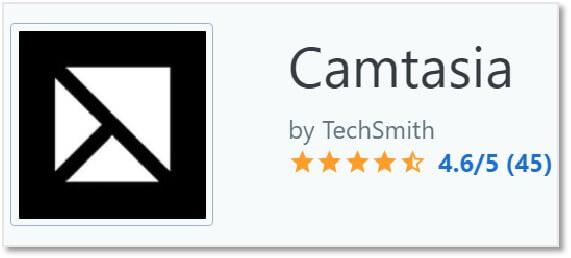 Camtasia 的Capterra 評價