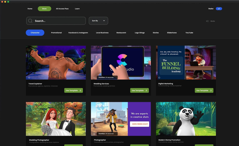 CreateStudio 的Store介面