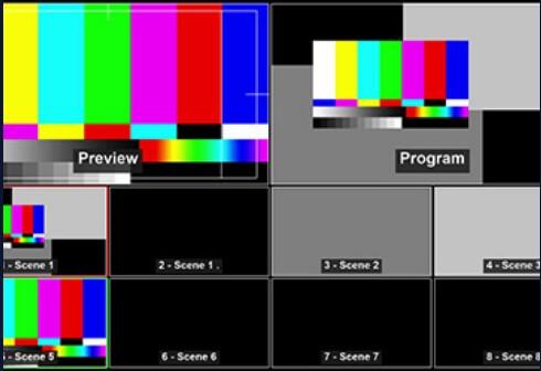 OBS Studio 最多展示八個場景