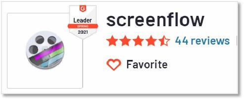 ScreenFlow 的 G2 評價