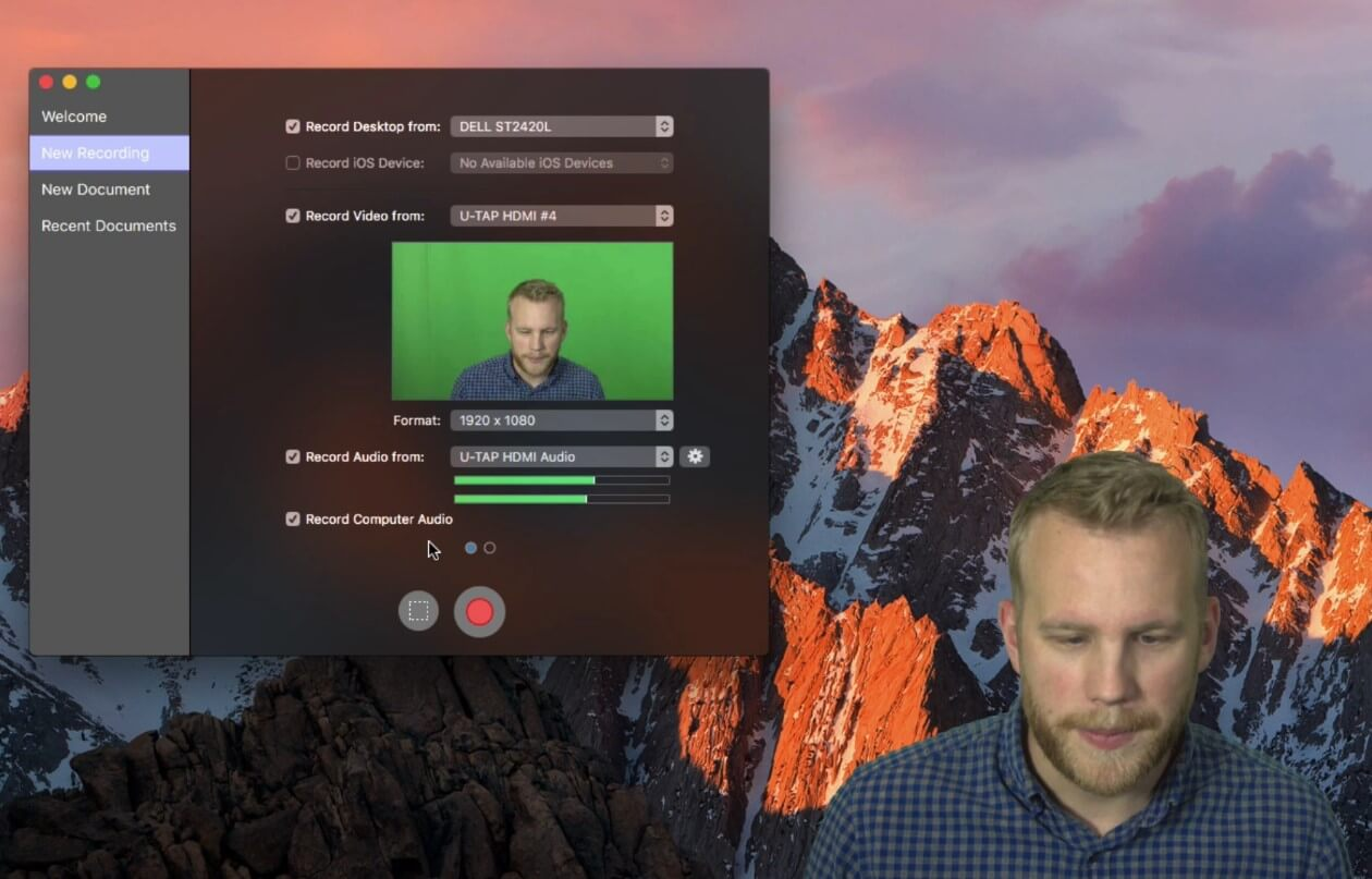 ScreenFlow 可自定義錄影範圍