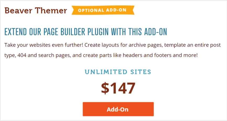 Beaver Themer 加購價格