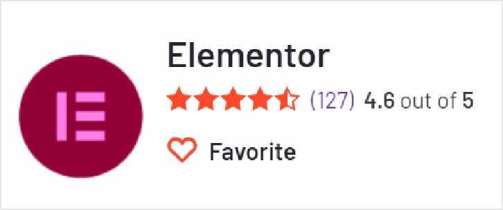 Elementor 在G2上的評價