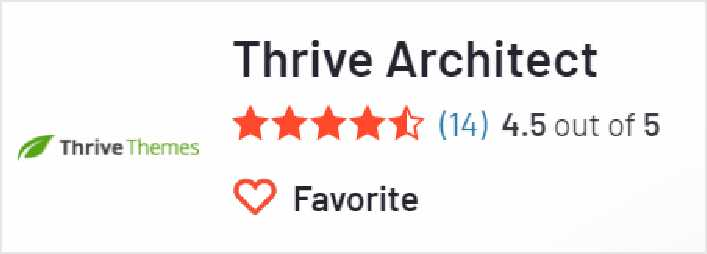 Thrive Architect 在G2上的評價