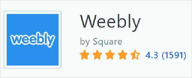 Weebly 在Capterra上的評價
