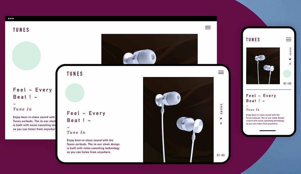 Wix的網頁製作適用於各種裝置介面