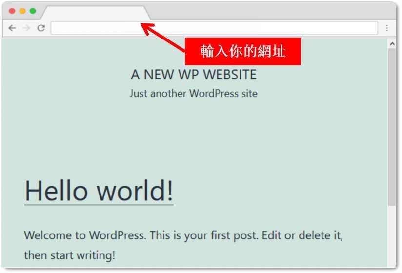 wordpress welcome page